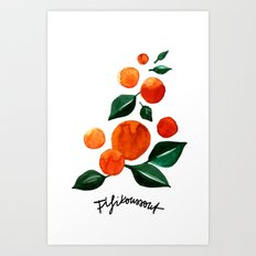 Orange Tree Art Print