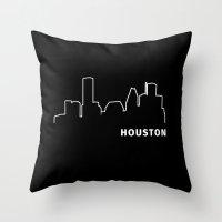 houston Throw Pillows featuring Houston, Texas by Fabian Bross