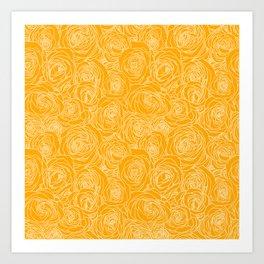 Saffron Roses Art Print