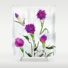 You Know What Freud Said About Carnations Shower Curtain