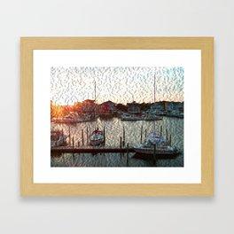 Canal Drive Framed Art Print