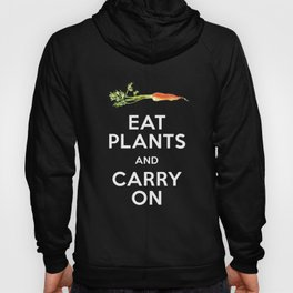 Eat Plant and Carry On Ultra Violet Background Hoody