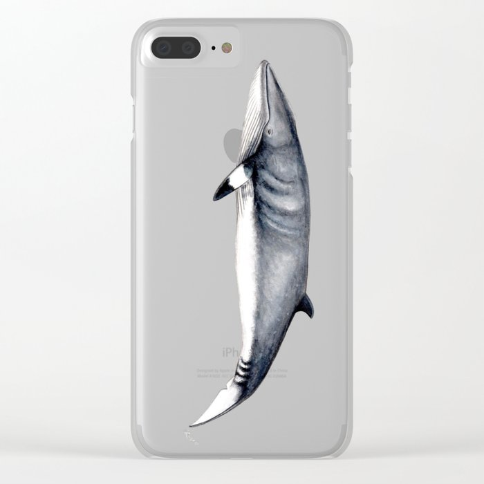 Minke whale Clear iPhone Case