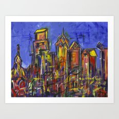 Philly Skyline Art Print
