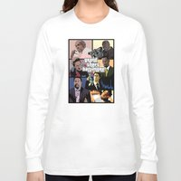 grand theft auto Long Sleeve T-shirts featuring Grand Theft Baltimore - The Wire meets Grand Theft Auto by rydrew