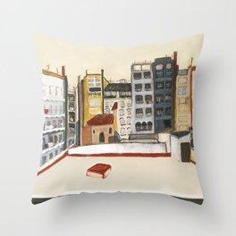 Barcelone Fenêtre sur cour  Throw Pillow