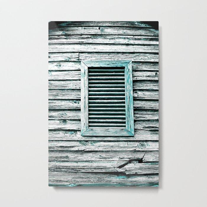 Single Window Metal Print