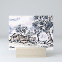 Rustic Bush Shack Mini Art Print