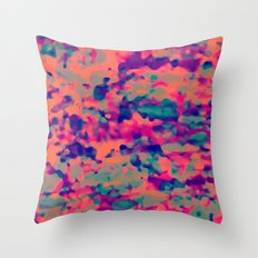 flUo macUla Throw Pillow