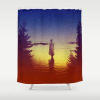 tolkien Shower Curtains featuring Wander Night Noise by Stoian Hitrov - Sto