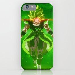dbz green hair iPhone Case