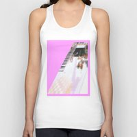 cafe Tank Tops featuring cafe by ONEDAY+GRAPHIC