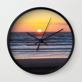 Sunset at Pismo Beach Wall Clock