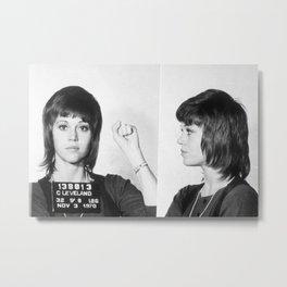 Jane Fonda Mug Shot Horizontal Metal Print