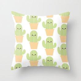 Cute cactus pattern Throw Pillow