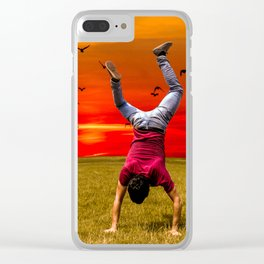 Capoeira in nature Clear iPhone Case