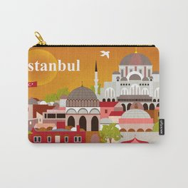 Istanbul, Turkey - Skyline Illustration by Loose Petals Carry-All Pouch