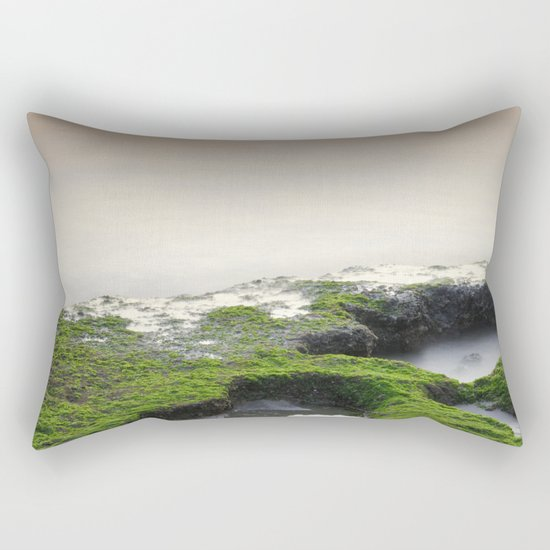 """Green, white and red beach"" Rectangular Pillow"