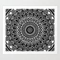 Detailed Black and White Mandala by aej_design