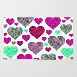 Hearts a Float Rug