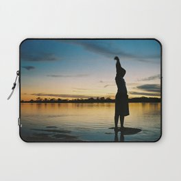 Female Body in the Amazon River Laptop Sleeve