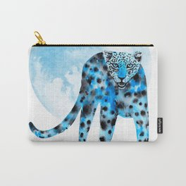 Ink leopard on white Carry-All Pouch