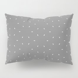 Grey And White subtle pattern Pillow Sham