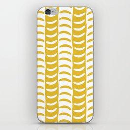 Wavy Stripes Mustard Yellow iPhone Skin