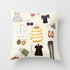 My (...not so new) spring wardrobe! Throw Pillow