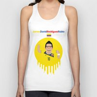 colombia Tank Tops featuring James Rodriguez - Colombia by Gary  Ralphs Illustrations