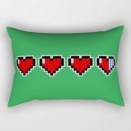 Pixel Hearts Rectangular Pillow