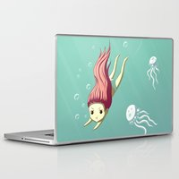 diver Laptop & iPad Skins featuring Diver by Freeminds