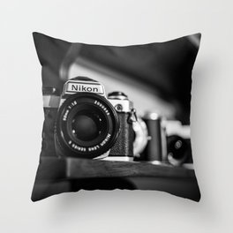 Camera History Throw Pillow