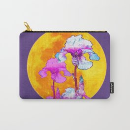 SURREAL PURPLE-PINK IRIS GOLDEN MOON Carry-All Pouch