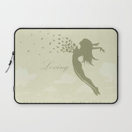 girl with butterflies in a jump Laptop Sleeve