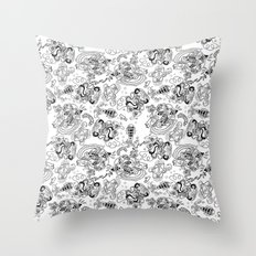 Polypus Filamentum (Pattern) Throw Pillow