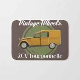 Vintage Wheels - Citroën 2CV Fourgonnette Bath Mat