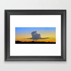Afternoon Desert Sky Panorama Framed Art Print