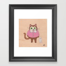 Two Kitties Framed Art Print