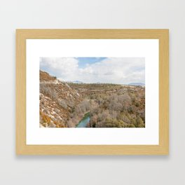 River in the French mountains Framed Art Print