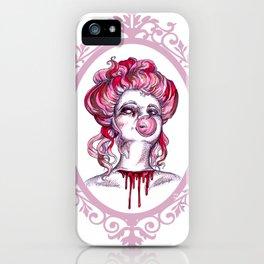 Bloody Bubblegum Gibson Girl iPhone Case