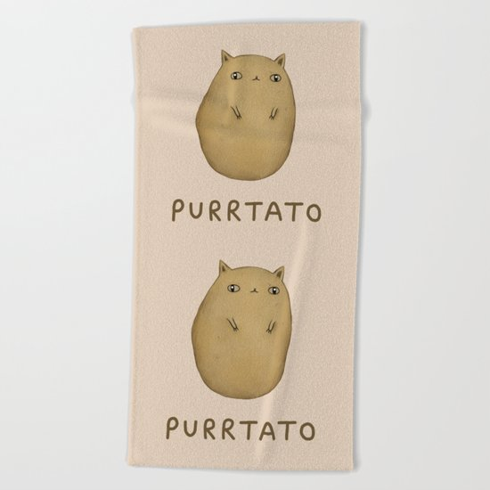 Purrtato Beach Towel
