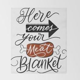 Meat Blanket Throw Blanket