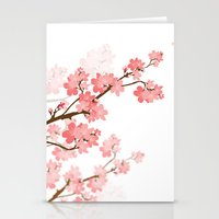 cherry Stationery Cards featuring Cherry by Ale Ibanez