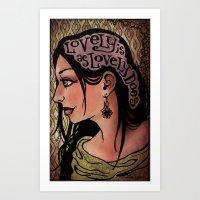 Lovely Is Art Print