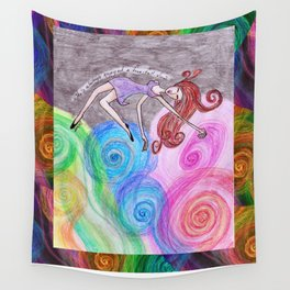 Free Fall View Wall Tapestry