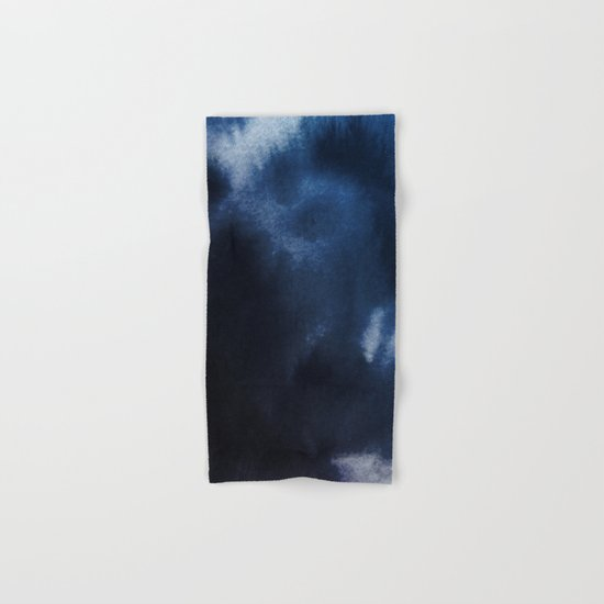 Watercolor Blue Hand & Bath Towel