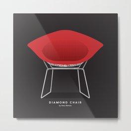 Diamond Chair - Harry Bertoia Metal Print