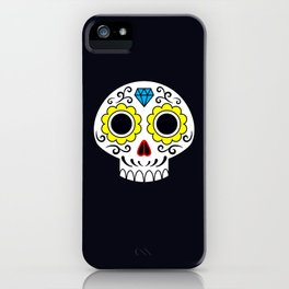 Sugar skull for a cake iPhone Case