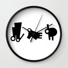 3 little friends Wall Clock